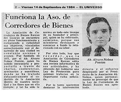 Alvaro Noboa - Asociación Corredores de Bienes Raíces